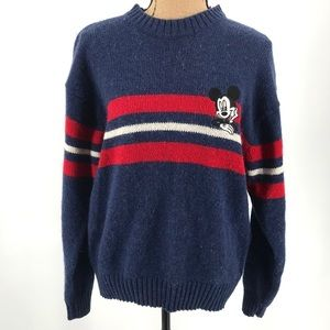 VINTAGE MICKEY UNLIMITED Sweater XL Navy Blue Red